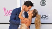 Jessie James Decker kissing Eric Decker