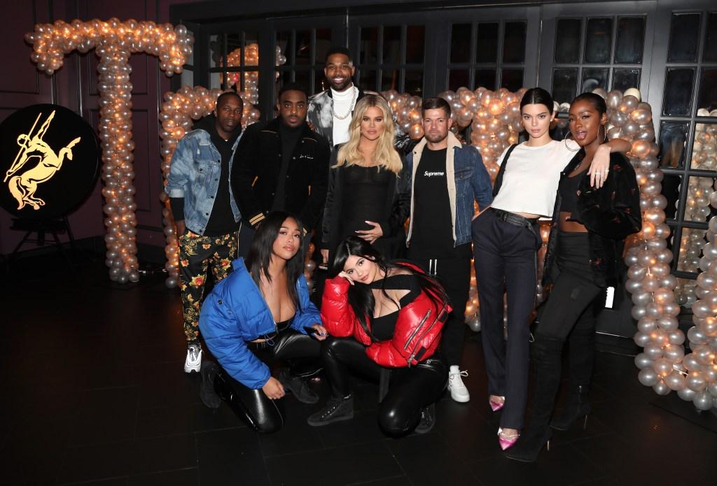 Tristan Thompson birthday with Jordyn Woods Kylie Jenner Khloe Kardashian