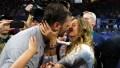 Gisele Bundchen kisses husband Tom Brady after patriots won super bowl LIII