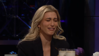 Hailey Baldwin making a disgusted face