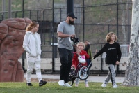 Kendra Wilkinson and Hank Baskett reunite for co-parenting their kids at the park and watch Alijah learn how to ride a bicycle.