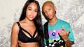 Jordyn Woods posing with Jaden Smith