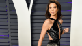 Kendall Jenner in a black gown at the 2019 Oscars Vanity Fair afterparty