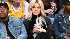 Khloe Kardashian watching Tristan Thompson play basketball