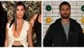 A split image of Kourtney Kardashian and Scott Disick