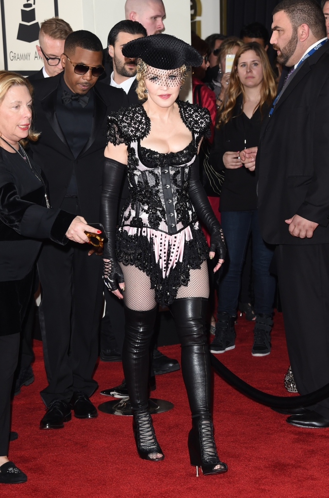 Madonna showing her body on the red carpet