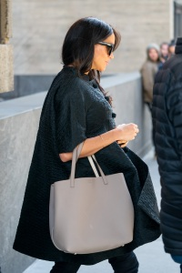 Meghan Markle wearing all black while walking in NYC