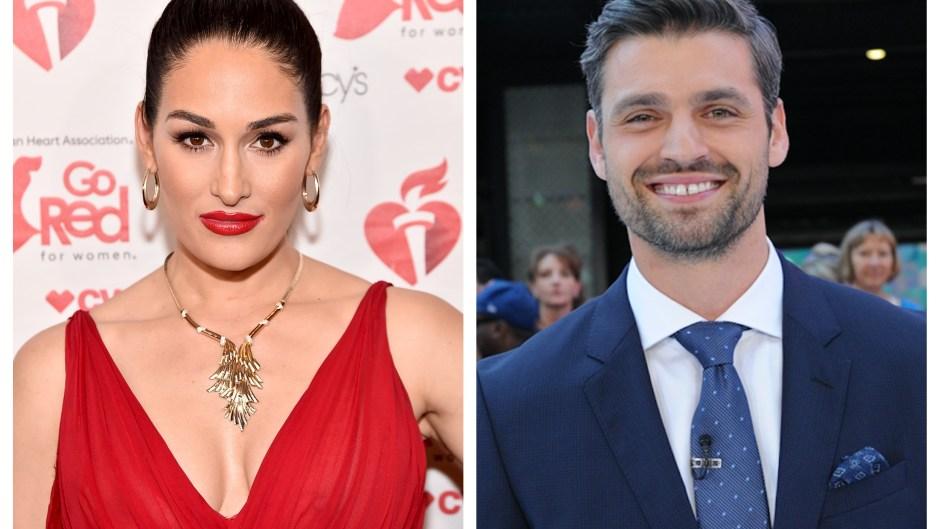 A split image of Nikki Bella and Peter Kraus