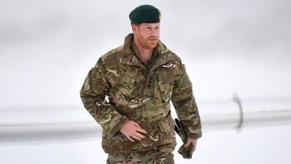 Prince Harry Visits Exercise Clockwrok