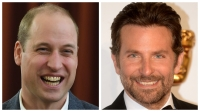 A split image of Prince William and Bradley Cooper