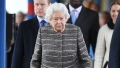 Queen Elizabeth II Arrives at King's Lynn Railway Station