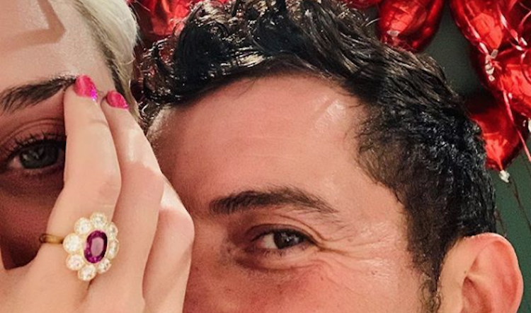 How much did Katy Perrys engagement ring from orlando bloom cost