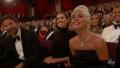 Lady Gaga Bradley Cooper Irina Shayk hang out at the Oscars