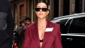 Kourtney Kardashian walking in NYC