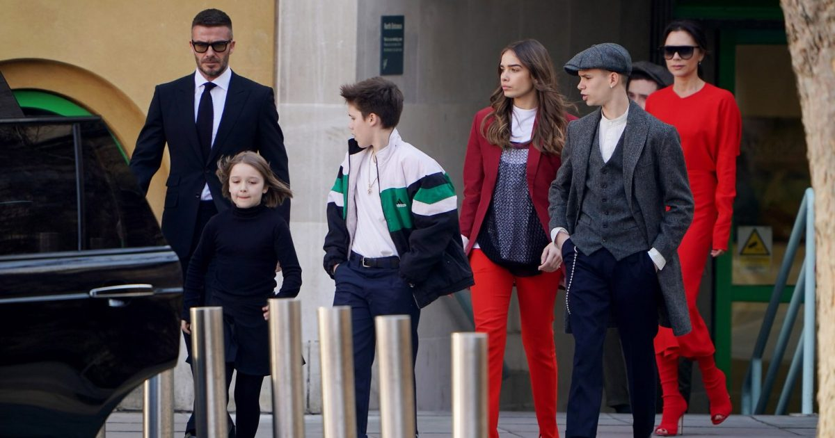 c7fda52d80 Beckham Family Makes Rare Group Appearance at London Fashion Week
