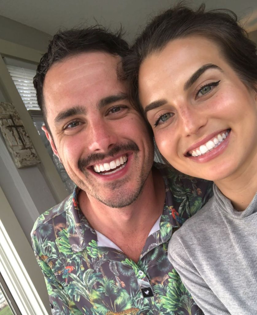 Bachelor Ben Higgins Smiles With Mustache in Selfie With Fiancee Jessica Clarke