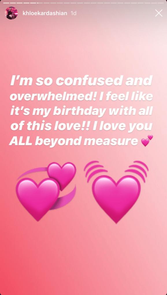 khloe kardashian tristan thompson split valentine's day instagram stories