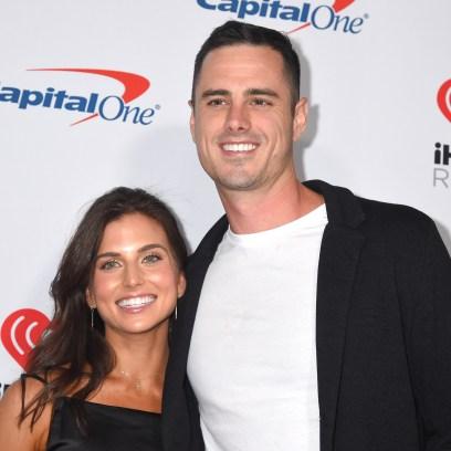 Bachelor Ben Higgins Smiles With Fiancee Jessica Clarke