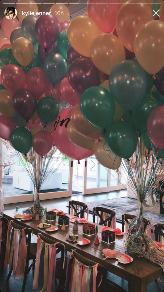 Stormi Webster S 1st Birthday Party Decorations Were Full