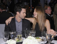 adam levine and behati at an event