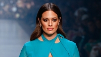 Ashley Graham arrives ahead of Runway 3 at Melbourne Fashion Festival