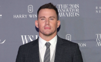 Channing Tatum posing without smiling.