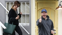 Chris Pratt and Fiancee Katherine Schwarzenegger Are All Smiles Leaving the Gym