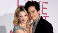 Lili Reinhart and Cole Sprouse posing
