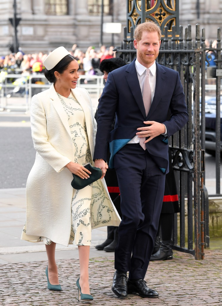 Meghan Markle, Prince Harry, Prince William and Kate Middleton at Commonwealth Day Service at Westminster Abbey