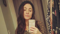 Jersey Shore star Deena Cortese taking a mirror selfie.