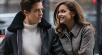 Dylan Sprouse and Barbara Palvin holding hands in NYC