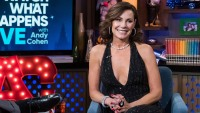 luann wearing a black dress