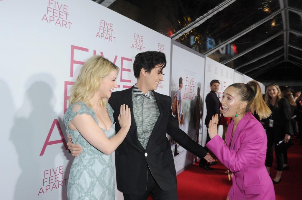 Lili Reinhart Cole Sprouse Haley Lu Richardson Five Feet Apart Los Angeles Premiere