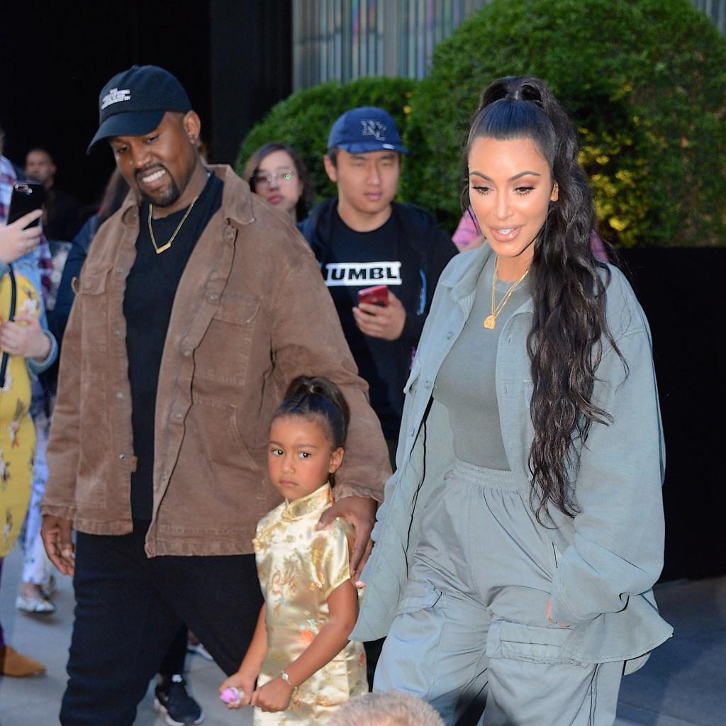 Kanye West North West Kim Kardashian
