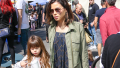 Jenna Dewan and daughter Everly go to the farmer's market in Studio City.