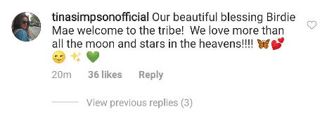 Instagram comment section.