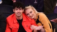 Joe Jonas and Fiancee Sophie Turner Share a Smooch While Courtside at Knicks Game