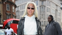 Jordyn Woods Steps Out in London With Bleach Blonde Hair