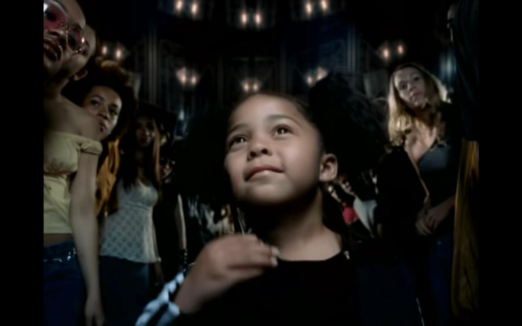 Jordyn Woods in the 2002 Black Suits Comin' (Nod Ya Head) music video.