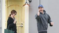 Chris Pratt and Katherine Schwarzenegger running errands