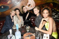 Elsa Hosk, Kendall Jenner, Cara Delevingne, Hailey Bieber, and Joan Smalls attend the Times Square Edition Premiere on March 12, 2019 in New York City.