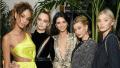Joan Smalls, Cara Delevingne, Kendall Jenner, Hailey Baldwin, Elsa Hosk