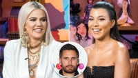 Khloe and Kourtney Kardashian Hilariously Tease Scott Disick During Car Ride