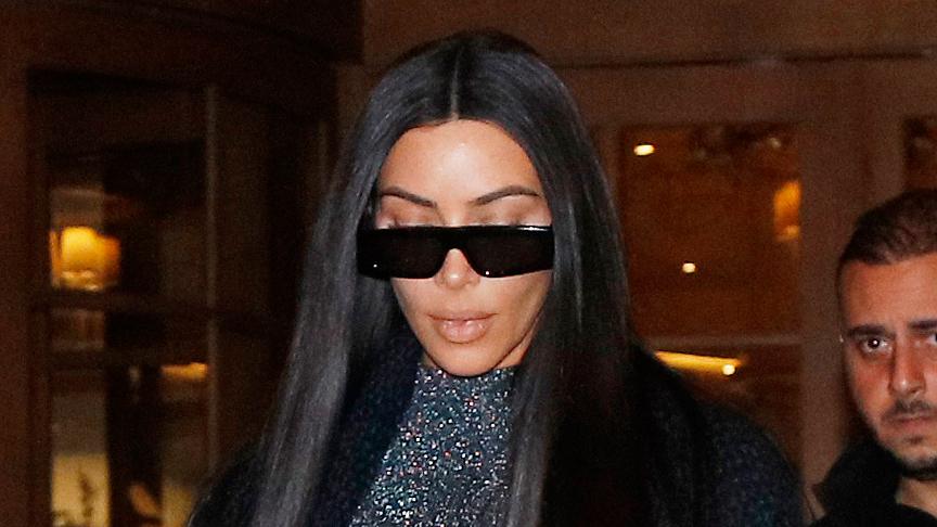 Kim Kardashian's Sheer Bodysuit in Paris