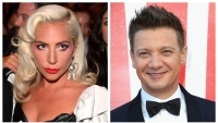 A split image of Lady Gaga and Jeremy Renner