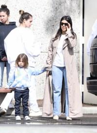 Kardashians seen leaving Kanyes church gathering