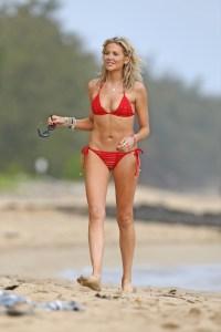 EXCLUSIVE: Stephanie Pratt hits the beach in Hawaii in a red bikini