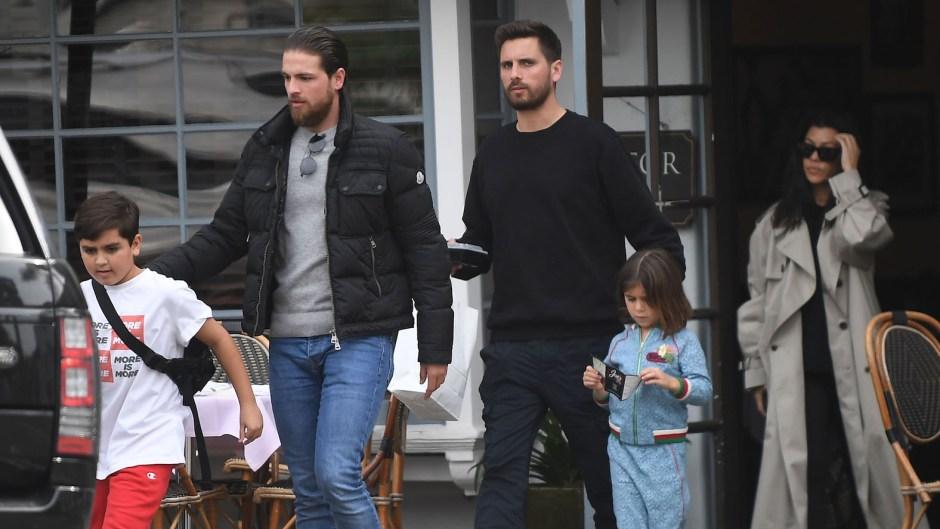 Kourtney Kardashian Scott Disick and Sofia Richie have lunch with Mason and Penelope in Santa Barbara