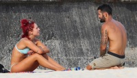 DWTS sharna burgess spotted with mystery man on aussie beach