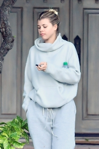 Scrunchie Gang!Sofia Richie Looks Cool and Cozy in Head to Toe Grey Sweats